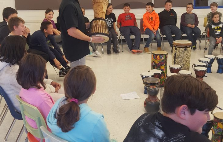 Drumming Activity for the students