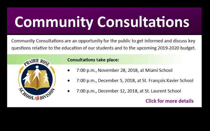Community Consultation Meeting